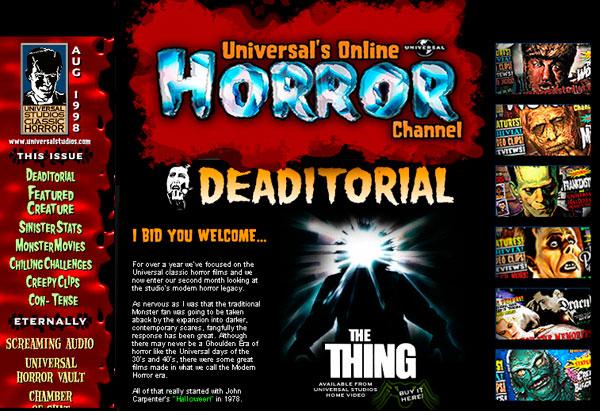 Universal Studios - Online Horror Channel